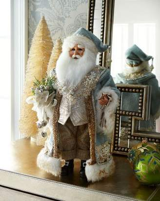 Karen Didion Originals Blue Standing Santa Figurine