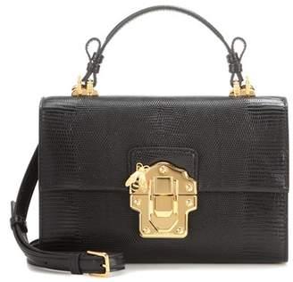 Dolce & Gabbana Lucia embossed leather shoulder bag