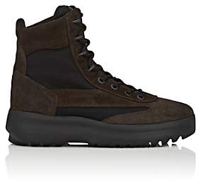 Yeezy Men's Suede & Nylon Military Boots-Dk. brown