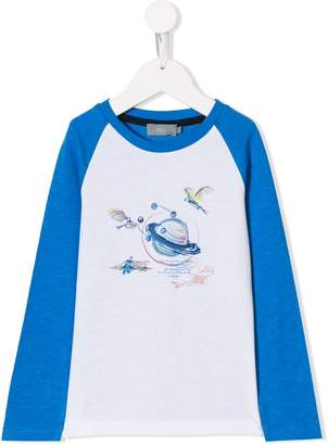 Christian Dior planet print longsleeved T-shirt