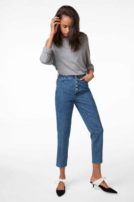 J Brand High-Rise Heather Button-Fly Jean In Electrify