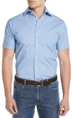 Peter Millar Men's Niblick Textured Short-Sleeve Sport Shirt