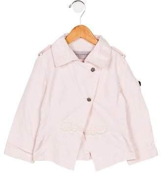Ermanno Scervino Girls' Lightweight Embroidered Jacket