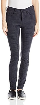 Buffalo David Bitton Women's Ivy High Waisted Plaid Five Pocket Pant In Black $26.09 thestylecure.com