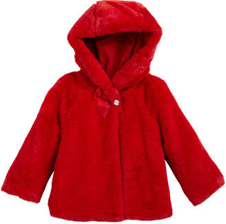 Mayoral Faux-Fur Hooded Coat, Size 12-36 Months