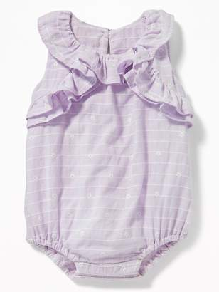 Old Navy Ruffled Dobby-Stripe Bubble One-Piece for Baby