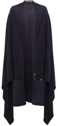 Extreme Cashmere - Knitted Cashmere Blend Cape - Womens - Navy