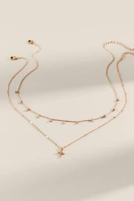 francesca's Sydney Delicate Cross Necklace - Gold