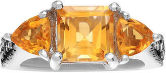 Journee Collection FINE JEWELRY Diamond Accent & Genuine Citrine Sterling Silver Ring