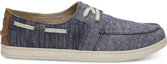 Navy Chambray Mix Men's Culver Boat Shoes