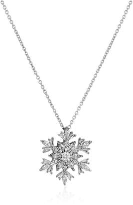 "Swarovski Amazon Collection Sterling Silver and Zirconia Snowflake Pendant Necklace, 16"" + 2"" Extender"