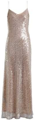 GALVAN Estrella bias-cut sequin-embellished gown
