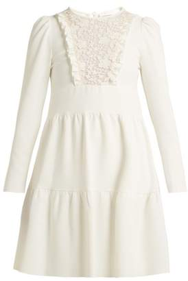 See by Chloe Lace Crepe Dress - Womens - Ivory