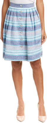 Brooks Brothers Linen A-Line Skirt