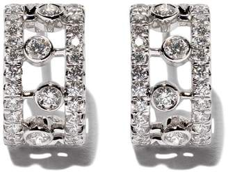 De Beers 18kt white gold Dewdrop diamond earrings