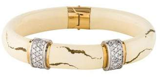 S.O.H.O New York 18K Diamond Enamel Bangle