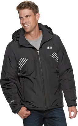 Skechers Men's Nylon Jacket with Feather Touch Fill