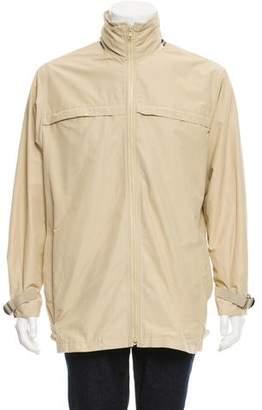 Burberry Woven Check-Trim Rain Jacket