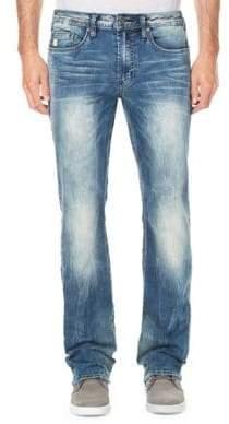 Buffalo David Bitton Sandblasted Straight-Leg Jeans