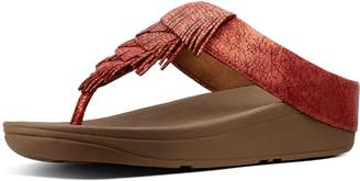 FitFlop Cha Cha Metallic Leather Toe-Thongs