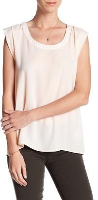 Pleione Cap Sleeve Pleat Back Blouse $64 thestylecure.com