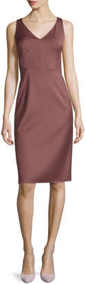 Michael Kors Sleeveless V-Neck Sheath Dress, Rose