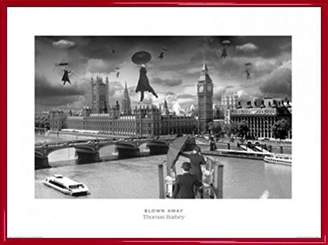 Thomas Laboratories 1art1® London Poster Art Print and Frame (Plastic) - Blown Away, Barbey (32 x 24 inches)