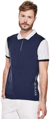 GUESS Factory Men's Milton Johnny Zip Polo