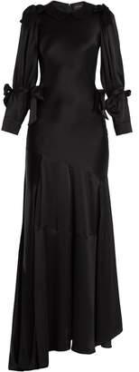 Simone Rocha Bow-tied bias-cut silk gown