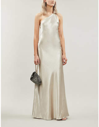 Galvan Roxy sleeveless satin maxi dress