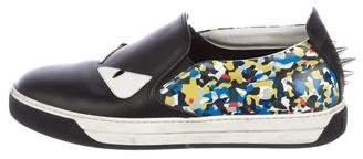 Fendi Monster Leather Sneakers