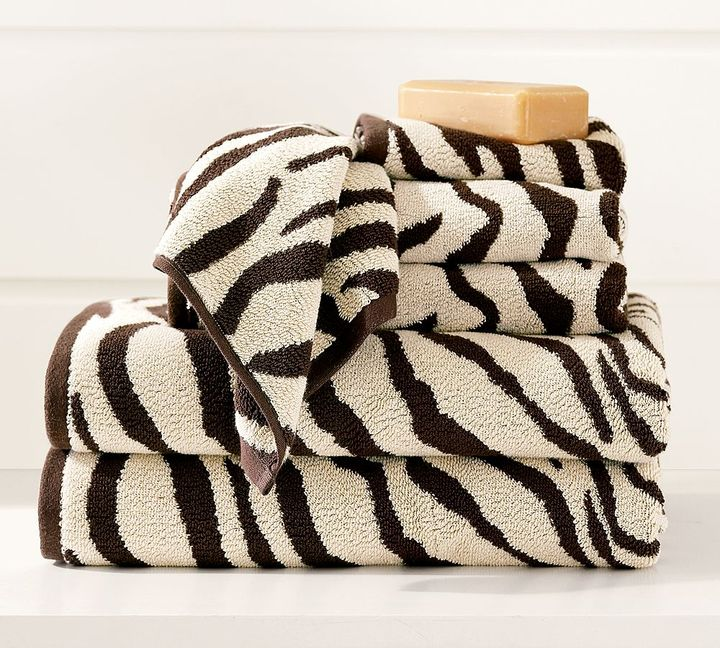 Zebra Jacquard Bath Towels