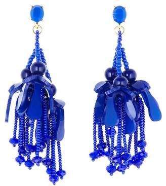 Oscar de la Renta Wilting Flower Drop Earrings