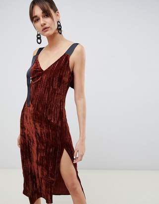 Asos velvet midi cami dress