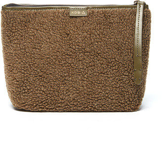 Olive Wool-Blend Commuter Clutch $78 thestylecure.com