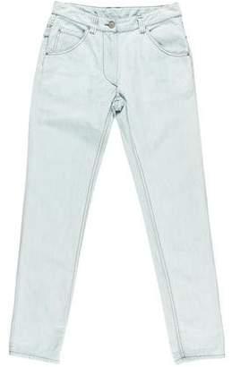 Etoile Isabel Marant Cuffed Straight-Leg Jeans