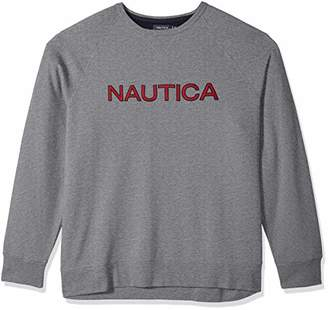 Nautica Men's Big and Tall Crew Neck Graphic Fleece Sweatshirt