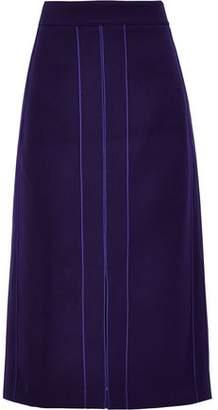 Derek Lam Wool-blend Gabardine Midi Pencil Skirt