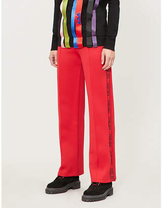 Kenzo Relaxed-fit logo-trim jersey jogging bottoms