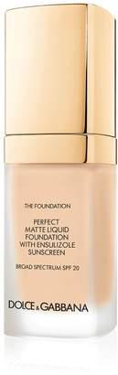 Dolce & Gabbana Make Up Perfect Matte Liquid Foundation