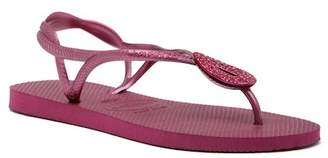 Havaianas Luna Special Crystal Accented Thong Sandal