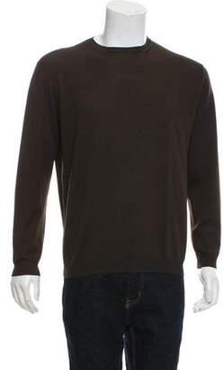 Prada Rib Knit Crew Neck Sweater