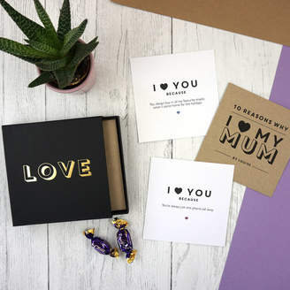 Design Studio Jeeves & Co. Personalised Reasons Why I Love My Mum / Dad
