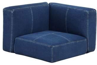 Pottery Barn Teen Cushy Lounge Corner Chair, Enzyme Washed Denim, QS EXEL