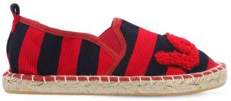 Colors of California Striped Ottoman Cotton Espadrilles
