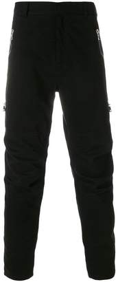 Balmain zipped slim trousers