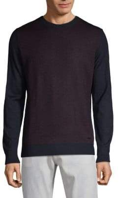 Bugatti Contrast-Panel Crewneck Sweater