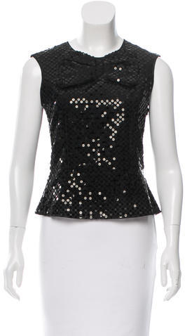 Marc Jacobs Marc Jacobs Sequin-Embellished Sleeveless Top
