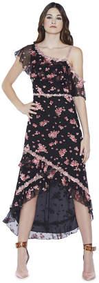Alice + Olivia Caydon Off Shoulder Midlength Dress