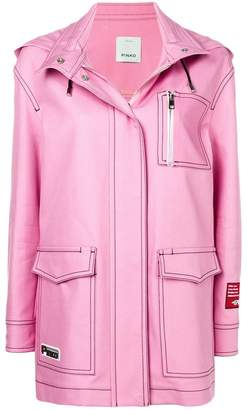Pinko oversized hooded jacket